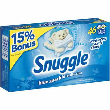Snuggle Blue Sparkle Dryer Sheets