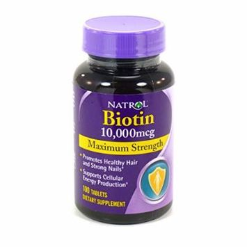 4 Pack Biotin 10000 Mcg By Natrol - 4 X 100 Tablets