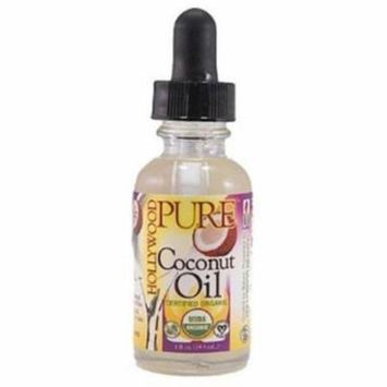 Hollywood Beauty Pure Organic Coconut Oil, 1 oz