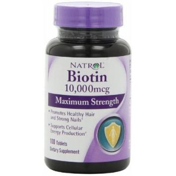 Natrol Biotin 10,000 mcg Maximum Strength Tablets, New Mega Size Package 600 Tablets