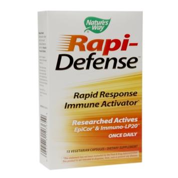 Nature's Way Rapi-Defense Rapid Response Immune Activator, Vegetarian Capsules, 15 ea