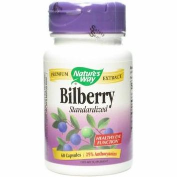 Nature's Way Standardized Bilberry Capsules, 60 CT