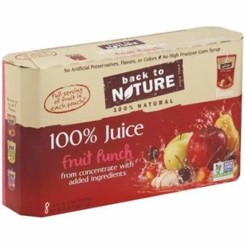 Back to Nature 100% Juice, Fruit Punch, 8/6 FZ (Pack of 5)