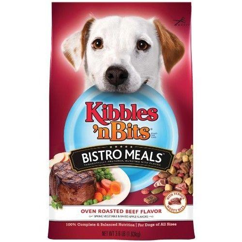 Kibbles 'n Bits Bistro Oven Roasted Beef Flavor Dry Dog Food, 3.5-Pound (Pack of 6)