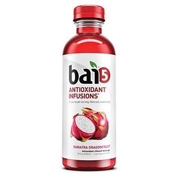 Bai5 Sumatra Dragonfruit, 5-calorie, Naturally Sweetened, Antioxidant Infused Beverage 18oz bottles (pack of 12)