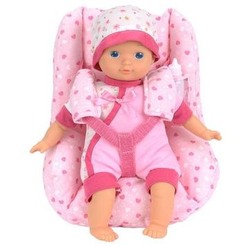 Rj Quality Products You & Me 12-inch Doll and Car Seat Set