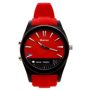 Martian Notifier Smart Watch - Red/Black (MN200RBR)