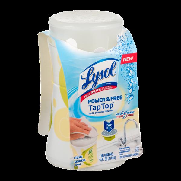 Lysol Power & Free Tap Top Multi-Purpose Cleaner Citrus Sparkle