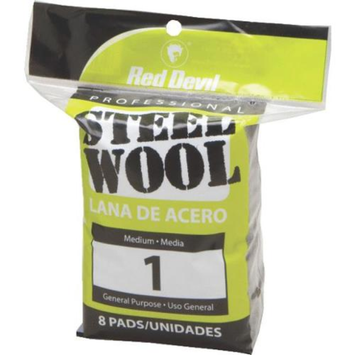 Red Devil 0324 8-Pack Steel Wool-8PK #1 STEEL WOOL