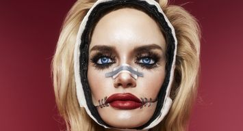 Plastic Fantastic Doll Halloween Makeup DIY