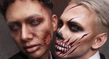 Newlywed Undead Halloween Makeup DIY