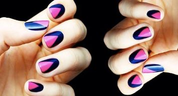 Insta Trend: Color Block Nails