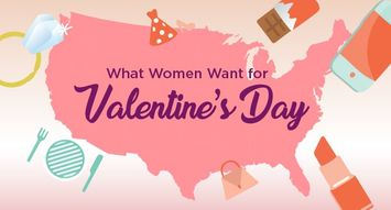 What Women Really Want This Valentine's Day–State by State