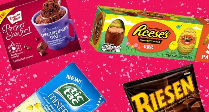 <p>Looking for new food to drool over? You came to the right place.From personal chocolate cakes (yes, please) to PiñaColadas with zero calories (well, <em>kind</em> of), we have a feeling you'll be stalking the grocery aisles all April long. Scroll ahead to meet your new fave treats.</p> <p></p>