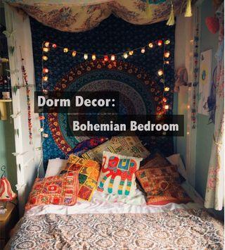 Dorm Decor: Bohemian Bedroom for $200!