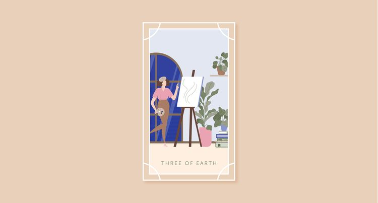 You Chose Card 3: Three of Earth, Here's Your First Tarot Reading for 2021