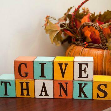 DIY: Thanksgiving Blocks