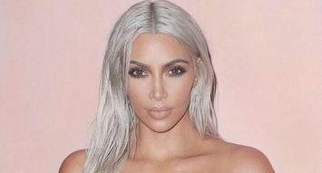This Product Keeps Kim K-Style Platinum Hair Healthy