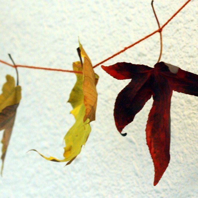 DIY: Leaf Garland