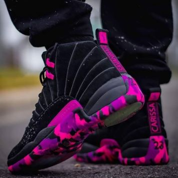 Nike Men's Air Jordan Retro 12 Basketball Shoes, Red/White Reviews ...