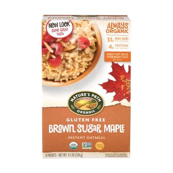 Nature's Path Organic Instant Oatmeal, Brown Sugar Maple