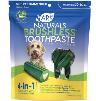 Ark Naturals Brushless Toothpaste Dental Chews - 20-40 lbs