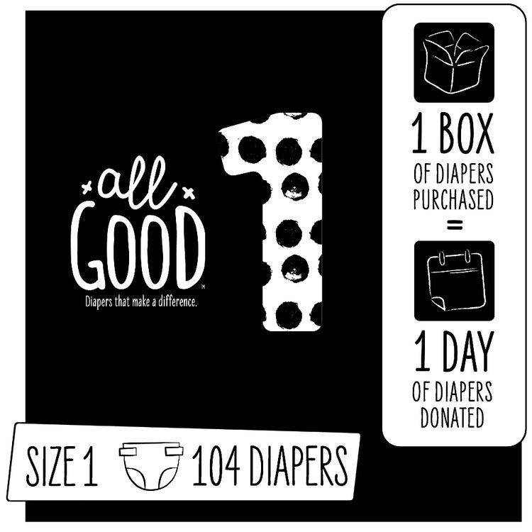 All Good Diapers Size 1