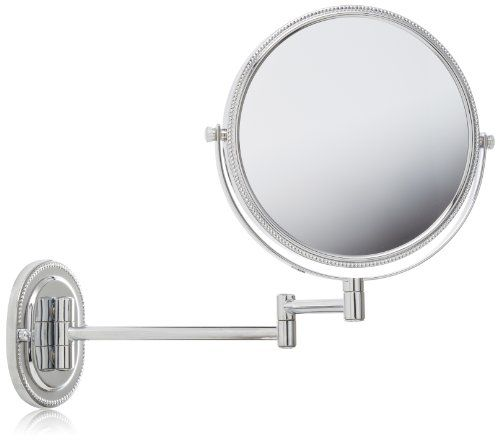 Jerdon JP7507CB 8-Inch Wall Mount Makeup Mirror with 7x Magnification