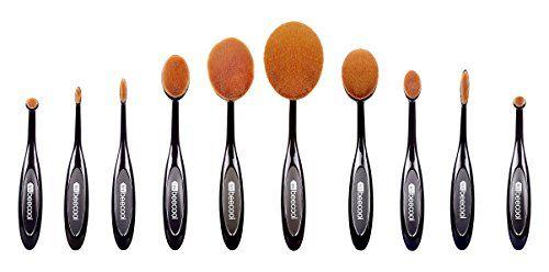 LetsBeeCool® 10 Pcs Soft Oval Toothbrush Makeup Brush Set