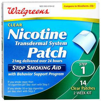 Walgreens Nicotine Patches Step 1