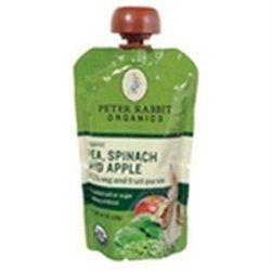 Bangalla Peter Rabbit Organics - Veg and Fruit Puree 100 Pea Spinach and Apple - 4.4 oz.