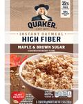 Quaker High Fiber Instant Oatmeal Maple and Brown Sugar