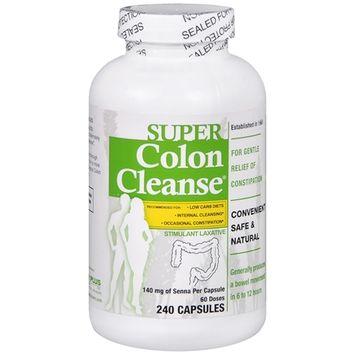 Super Colon Cleanse Capsules Laxative 240 caps(Case of 12)