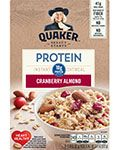 Quaker Protein Instant Oatmeal Cranberry Almond