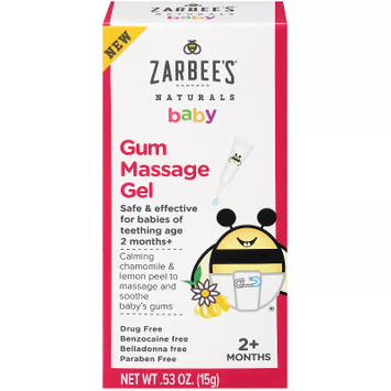 Zarbee's Naturals Baby Gum Massage Gel, 0.53 Ounce, Safe Effective For Babies N