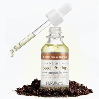KOREAN COSMETICS, MIZON_ Hub Sys Natural Seed Fermentation Ampoule 30ml (skin protection, moisturizing, elastic, smooth skin texture, anti-wrinkle) [001KR]