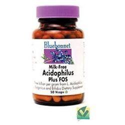 Bluebonnet Nutrition - Acidophilus Plus FOS Milk-Free Probiotic - 50 Vegetarian Capsules