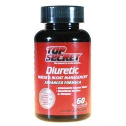 Top Secret Nutrition Water-Less Water and Bloat Management - 60 Capsules