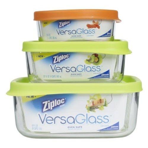 Ziploc VersaGlass Container