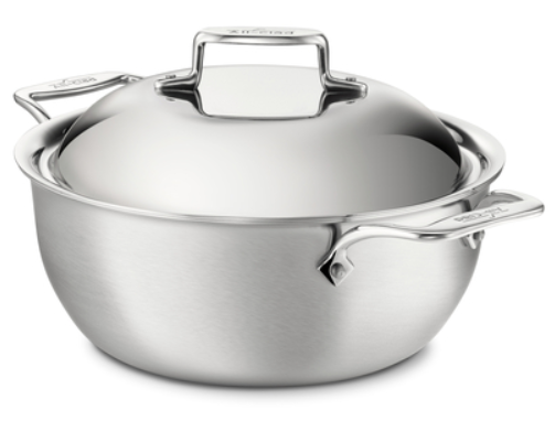 All Clad d5 STAINLESS Brushed 5.5-Qt Dutch Oven