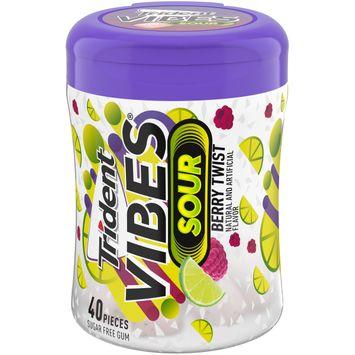 Trident Vibes Sour Berry Twist Flavor Sugar Free Gum