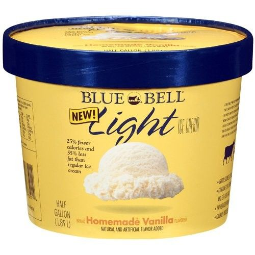Bluebell Blue Bell Light Homemade Vanilla Ice Cream, 12 gal
