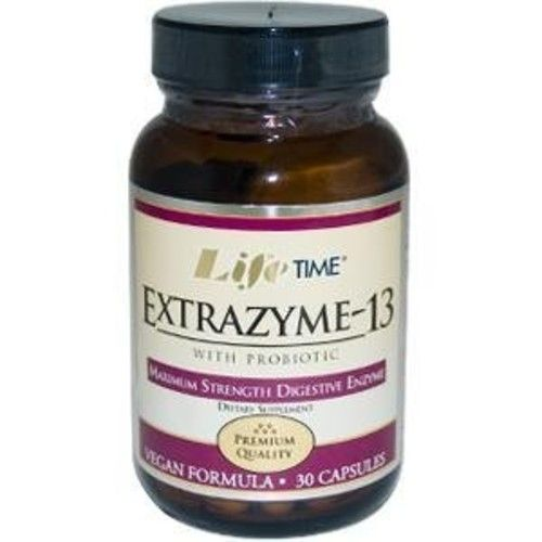 Lifetime Extrazyme-13 with Probiotic -- 30 Vegetarian Capsules
