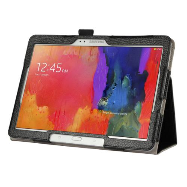 """Black Double-Fold Folio Case for Samsung Galaxy Pro 12.2"""" Tablet"""