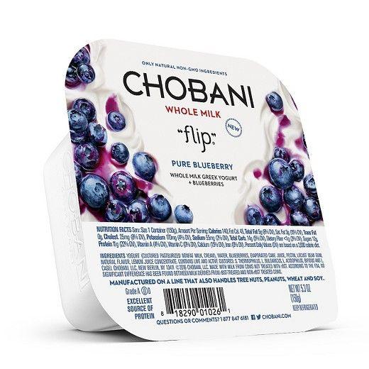 "Chobani® ""Flip""™ Pure Blueberry Whole Milk Greek Yogurt"