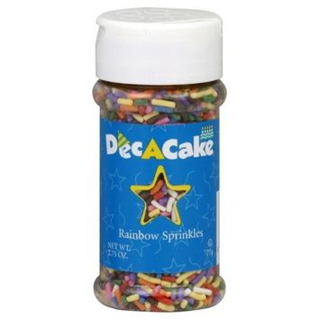 Dec A Cake Dec-A-Cake Sprinkles Rainbow Mix, 2.75-Ounce (Pack of 6)