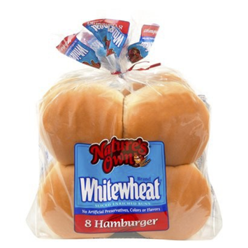 Natures Own Nature's Own Whitewheat Hamburger Buns 8-ct.