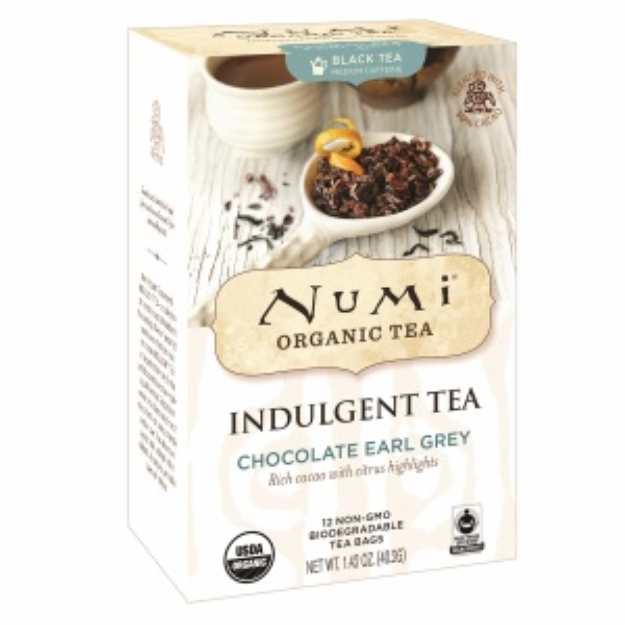 Numi Organic Tea Indulgent Tea, Chocolate Earl Grey, 12 ea