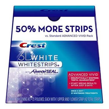 Crest 3D Whitening White Strips with Advanced Seal Vivid