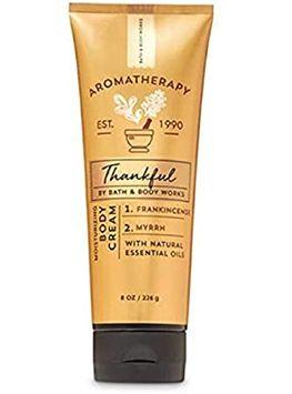 Bath & Body Works Aromatherapy 8oz Thankful Frankincense Myrrh Body Cream